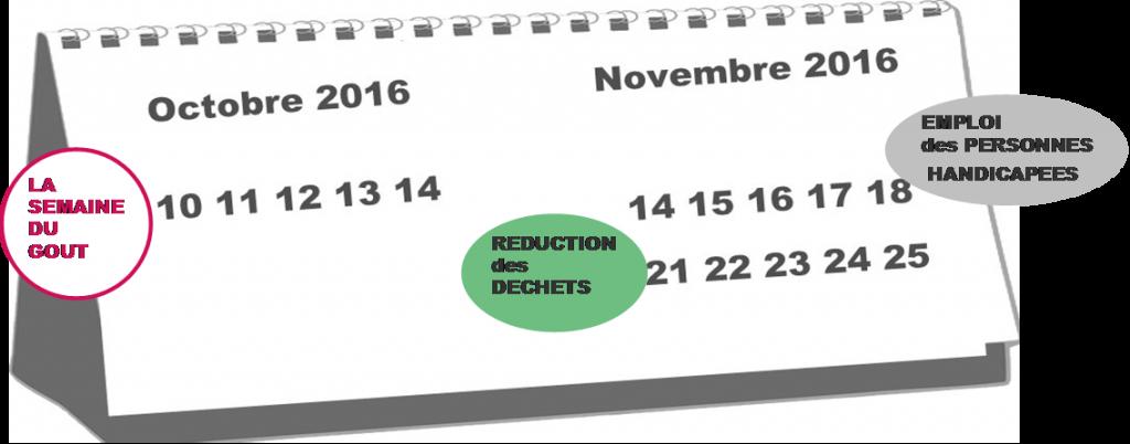 Calendrier et évènements RSE Octobre Novembre 2016