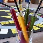 Smoothies colorés en tubes à essais